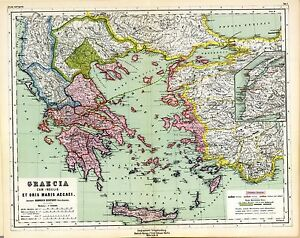 1903 old antique map of ancient world empire greece greek turkey image is loading 1903 old antique map of ancient world empire gumiabroncs Images