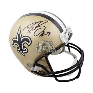 new style 8524a c60a9 Details about Drew Brees Autographed New Orleans Saints Full-Size Helmet -  JSA COA