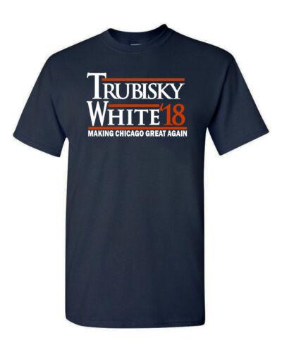 "Mitch Trubisky Chicago Bears /""Trubisky White 18/"" T-Shirt"