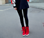 Women-039-s-Winter-High-Top-Sneaker-Lace-Up-Hidden-Wedge-Heel-Ankle-Boots-Shoes thumbnail 8