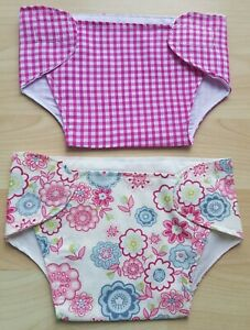 Set of 2 Nappies for 17-19 inch Dolls/Baby Annabell ...