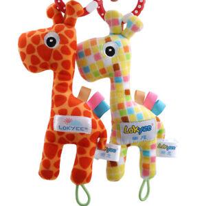 Baby-Pushchair-Crib-Cot-Rattle-Toy-Plush-Soft-Pram-Toys-Child-Kids-Bed-N7