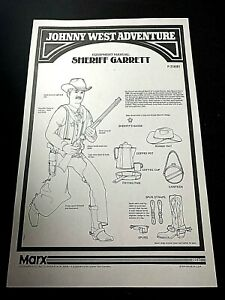 1 Left hand for Johnny West by Marx Custer Maddox Cobra Zeb Buck Boone Sheriff