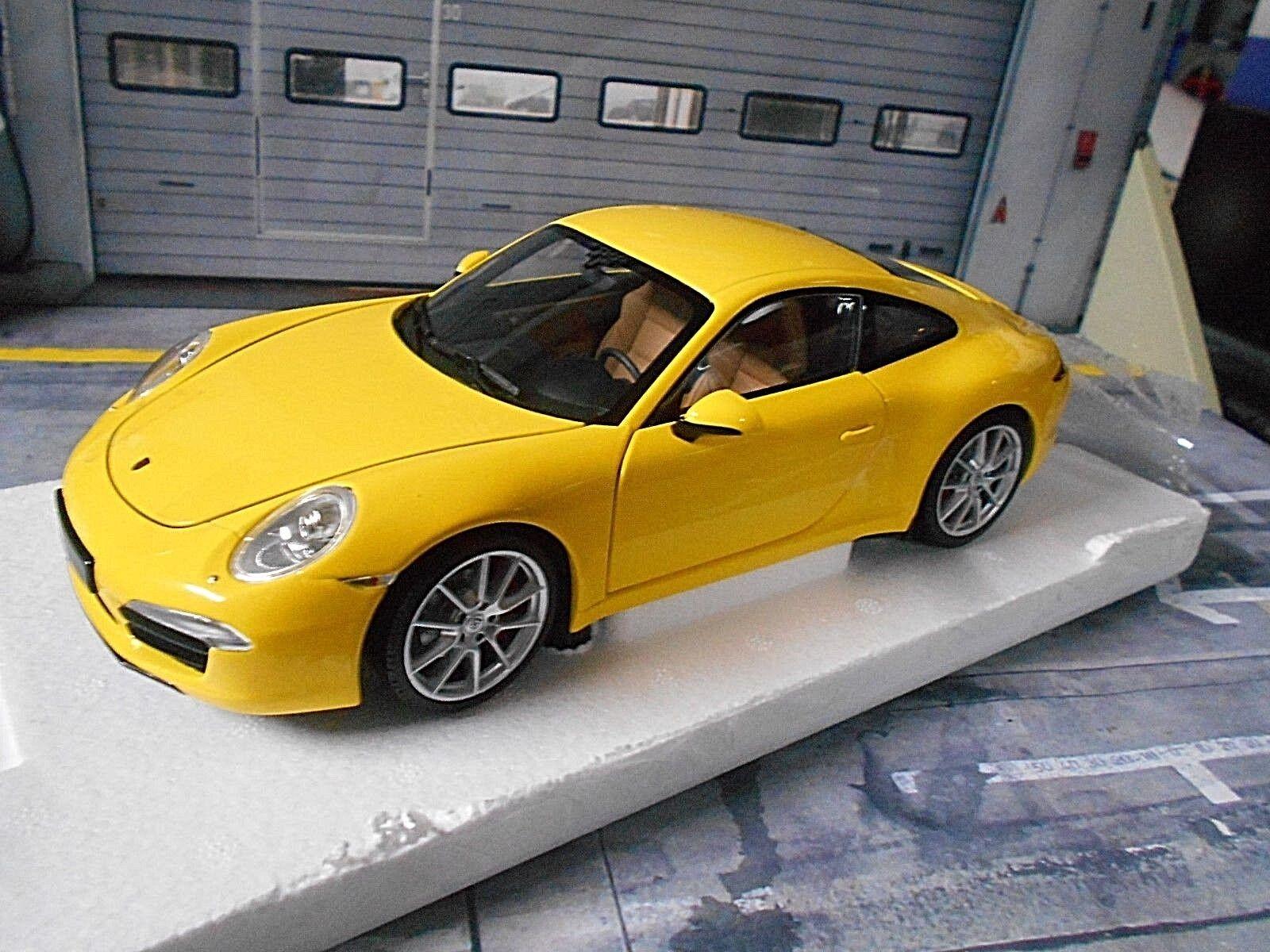 Porsche 911 991 Carrera s Coupe 2011 jaune jaune rare MINICHAMPS 1 18