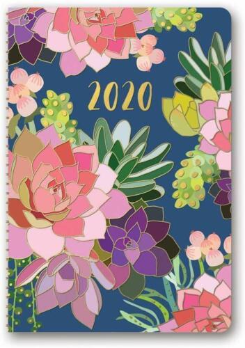 Studio Oh Orange Circle 2020 17 Month Flexi Weekly Planner Succulent Paradise