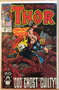 The-Mighty-Thor-430-1991-Marvel-Comics-Featuring-Ghost-Rider-Comic-Book-XF