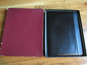 Vtg-Hazel-Split-Cowhide-Portfolio-W-Paper-Amoco-amp-UT-Partners-In-Progress