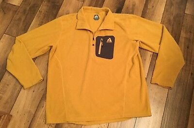 Men's Clothing Adaptable Men's Eddie Bauer Firstascent Long Sleeve Top ..gold And Grey/xl