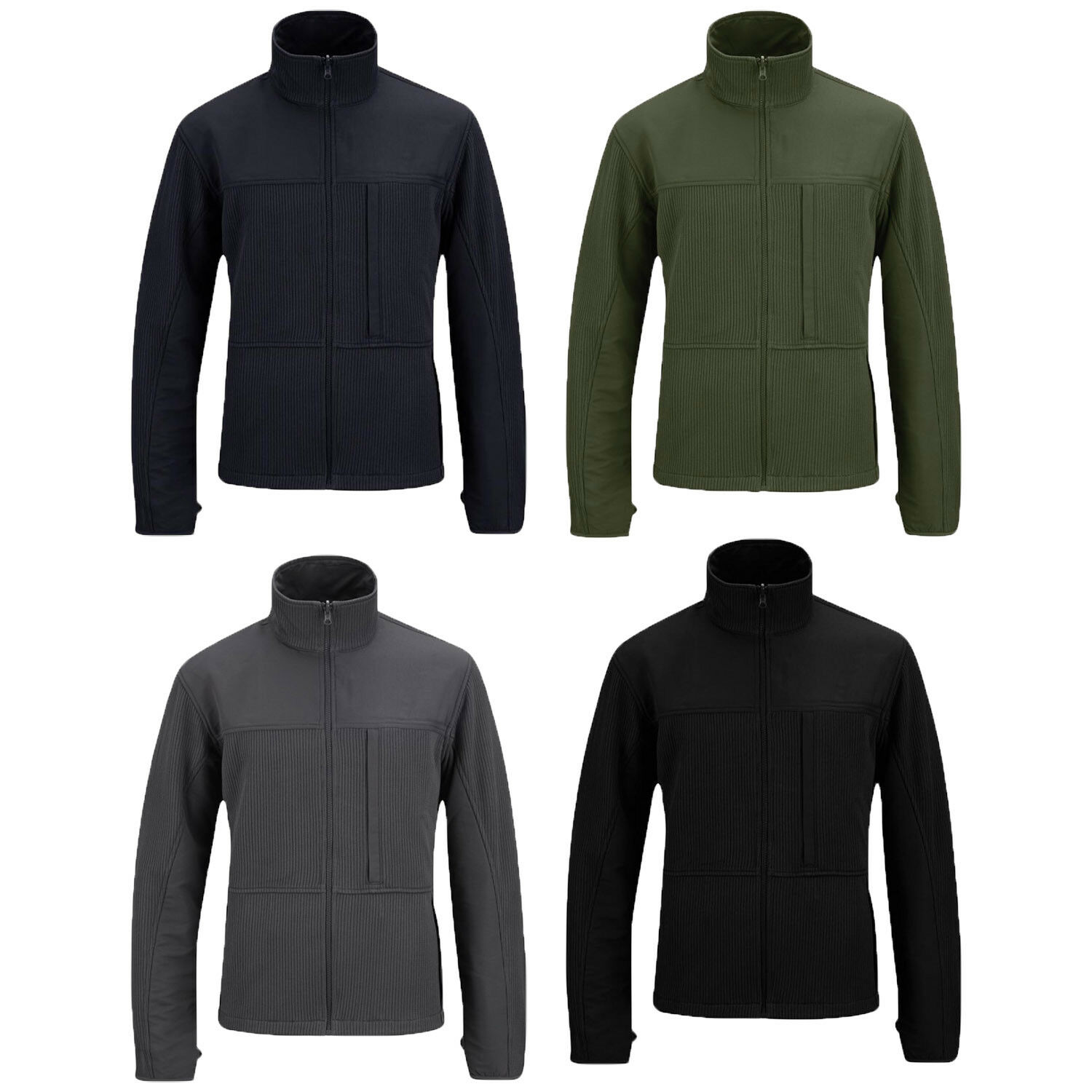 Propper Full Zip Durable Polyester Knit Fleece Stand-Up Collar Tech Sweater