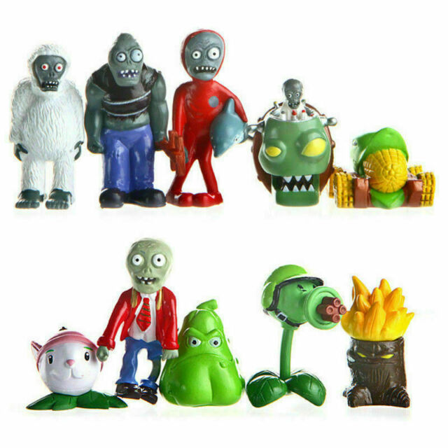 10pcs Plants vs Zombies Action Figures Toy Decor Cake Topper Kids Gift Style