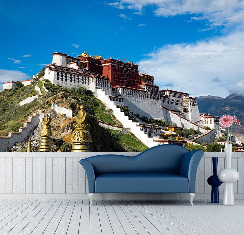 3D Tibetan Palace 7 Wall Paper Murals Wall Print Wall Wallpaper Mural AU Summer