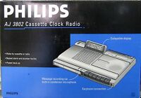 Philips Cassette Recorder Clock Radio Aj3802 For Overseas Use 220 Volts Only