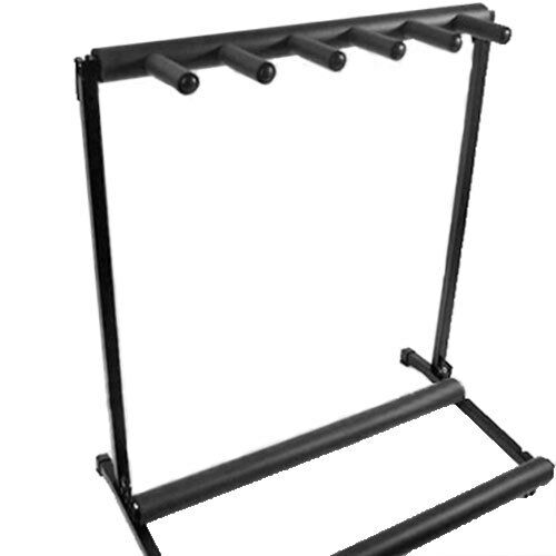 NEW Solid Foldable 5 Way Guitar Stand Rack (Holds Up To 5 Guitars) Electric Bass