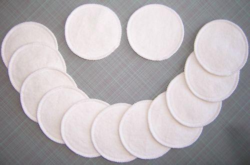 2 Reusable Washable Hemp Organic Cotton Nursing Breast Pads Fleece Breastfeeding
