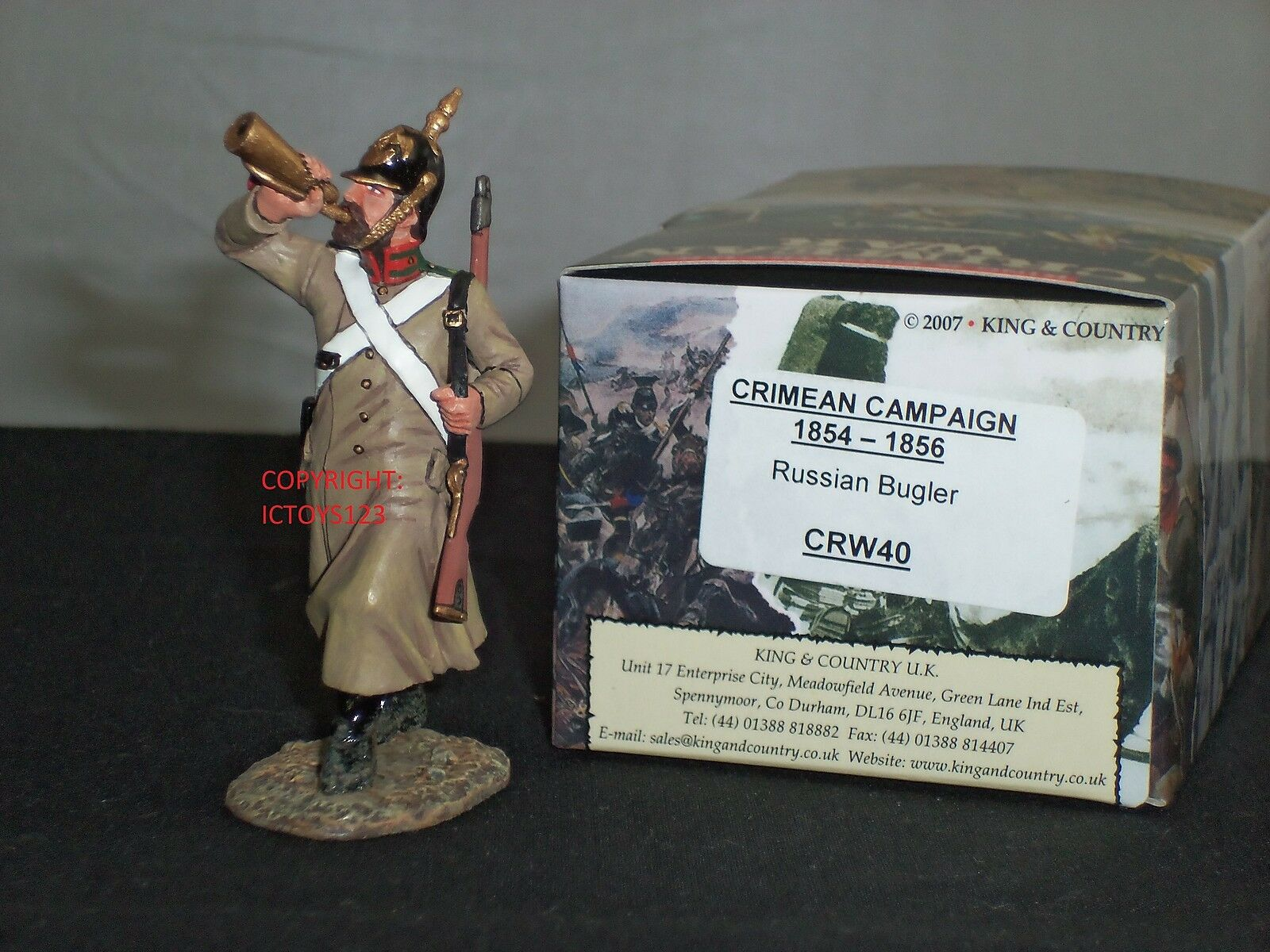 KING AND COUNTRY CRW40 RUSSIAN BUGLER CRIMEAN WAR METAL TOY SOLDIER FIGURE