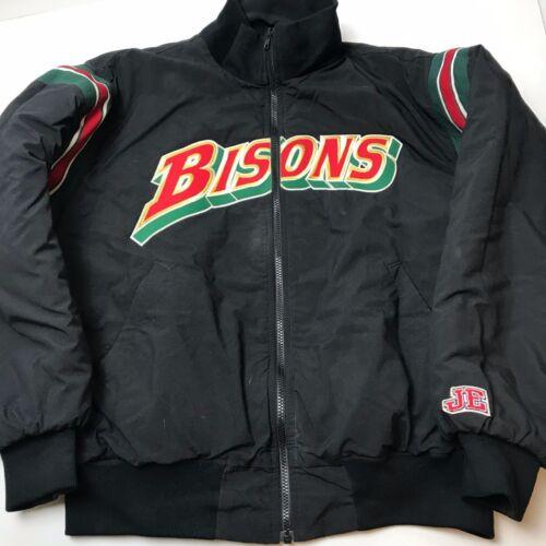 Vintage Buffalo Bisons Bomber Jacket Large 90s MiL