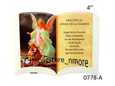 """Oracion al Angel de La Guarda 4""""x 6"""" tipo Bibla abierta-0778-A"""
