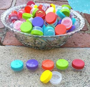 100-Reusable-Screw-Top-Plastic-Sample-JARS-1-teaspoon-Sample-Container-3301-USA