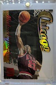 piękno odebrane sportowa odzież sportowa Details about Rare! Michael Jordan 1996 STADIUM CLUB FUSION #F1, Die Cut  Gold Foil Insert Read