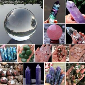 Natural-Fluorite-Amethyst-Point-Pink-Rose-Crystal-Quartz-Healing-Wand-Stone-Lot