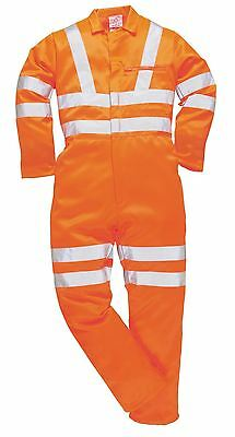 Portwest HI VIS Work Coverall Overall Boilersuit  Workwear S - 3XL RT42 railways