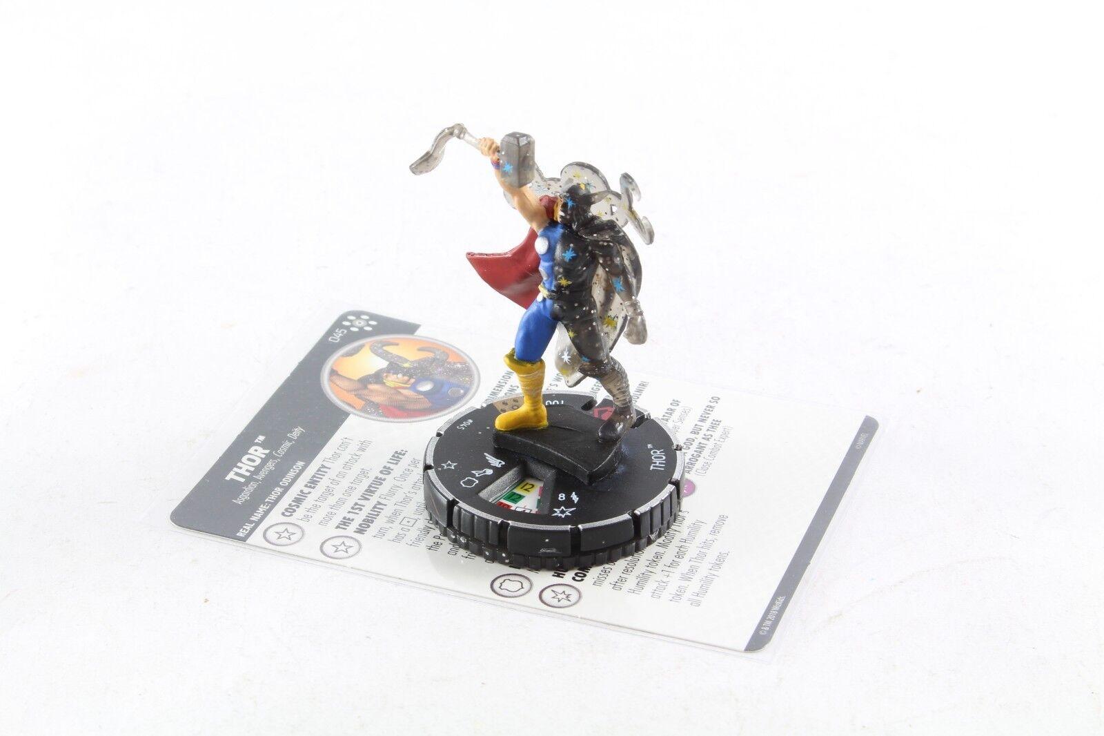 Heroclix Marvel Infinity Guerra Thor 045 súper Raro Sr Chase