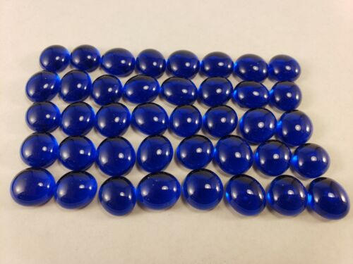 Set of 40 CLEAR SAPPHIRE BLUE Pente Glass Stone Game Playing Piece replacement