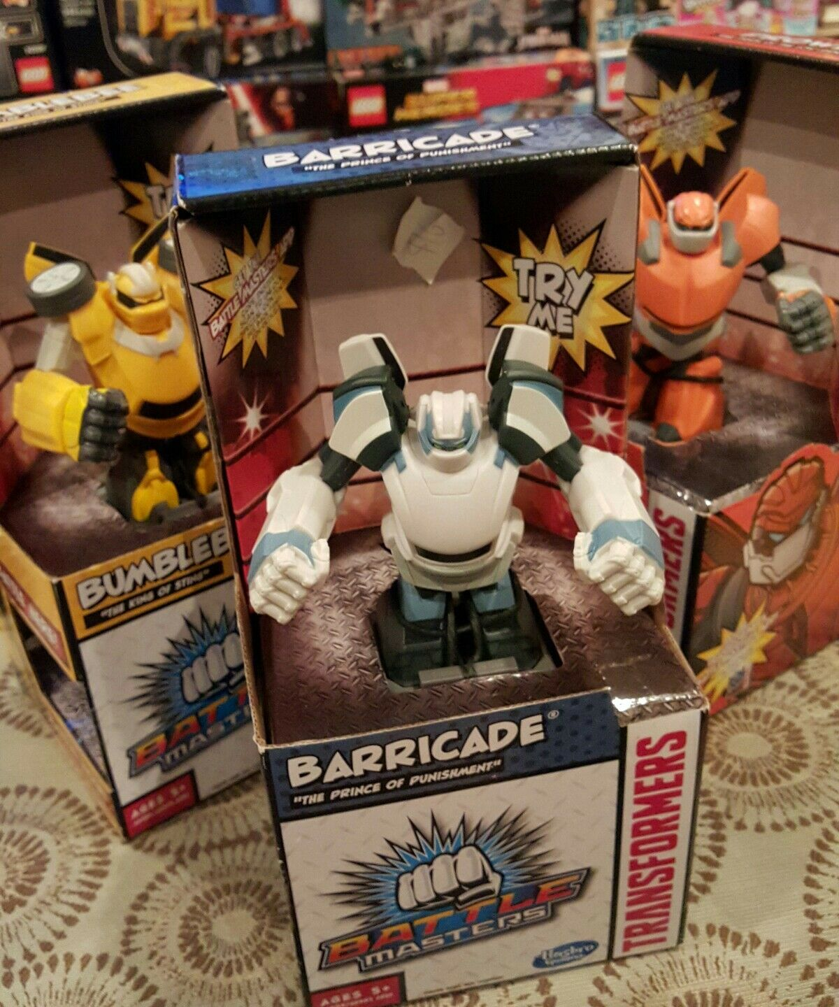 Bumblebee Barricade and Prowl Battle Master Transformers