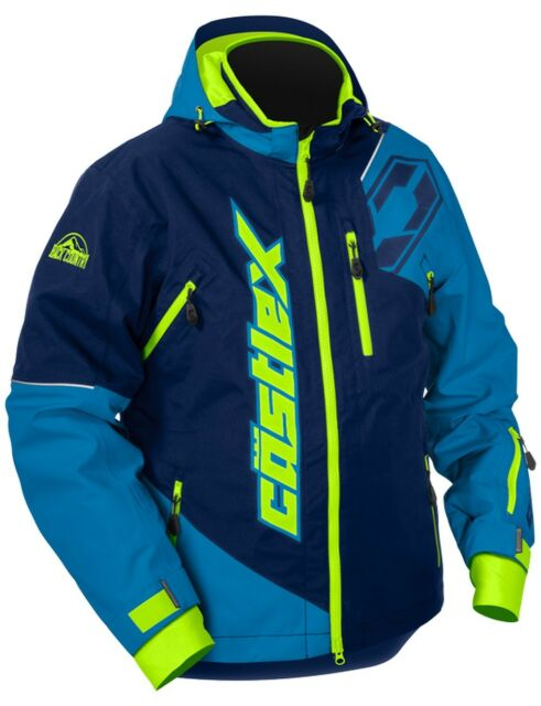 Castle X Racewear Stance Mens Snowmobile Jacket Navy/Process Blue LG