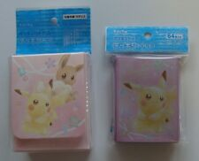 Japanese Pokemon Fan of Pikachu /& Elevui Deck Case /& 64 Sleeves Factory Sealed