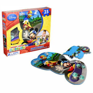 Foam Floor Puzzle with Bonus Mickey Mouse Mess-Free Coloring Book and Stickers Mickey Mouse Jigsaw Puzzles 25-Piece Mickey Mouse Clubhouse Puzzle Bundle