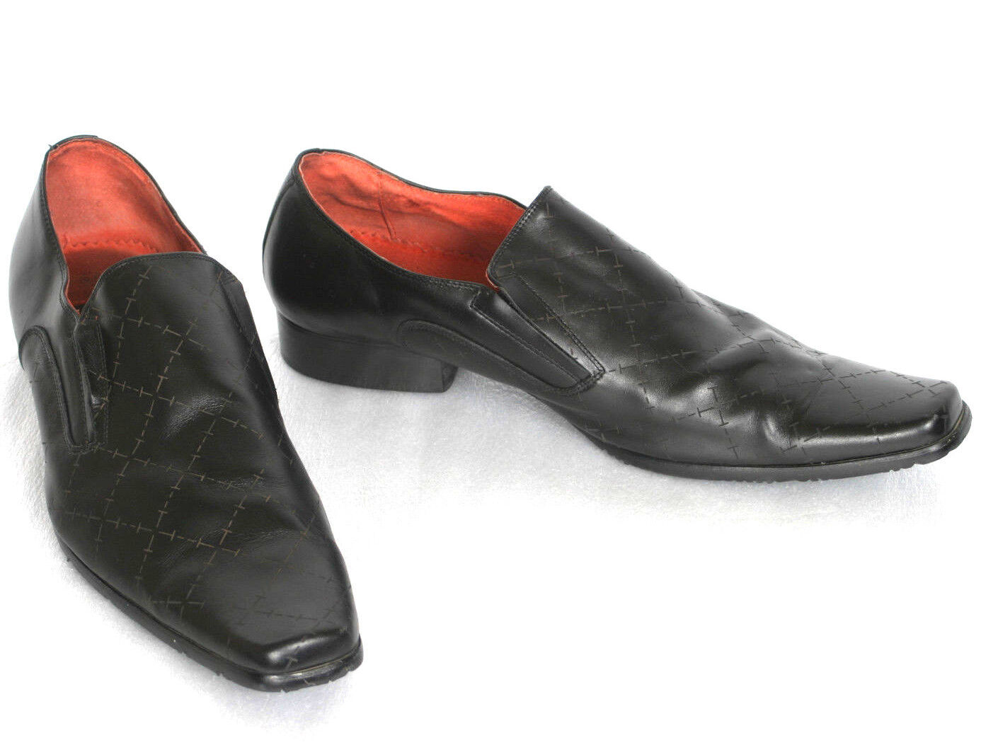 Tansmith Mens Black Dress shoes 9.5 no width shown 37820-01 Compare with new  89