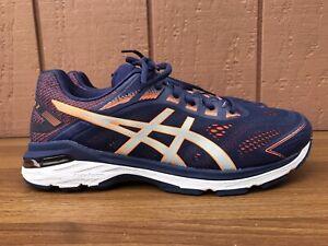 Details about MINT Asics GT 2000 7 1011A159 Running Shoes Men US 11.5 Wide E Navy Orange C8
