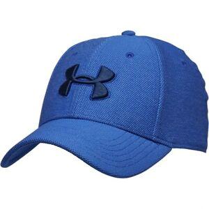 9af4b5f98a1 Under Armour Mens HG HeatGear Heathered Blitzing 3.0 Blue Cap (Size ...