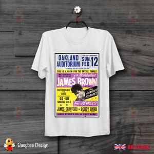 b56630d0 Details about James Brown Oakland Auditorium Poster Soul Funk Cool Vintage  T Shirt B249