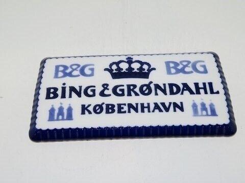 Porcelæn, Bing & Grøndahl  Forhandlerskilt, Bing &