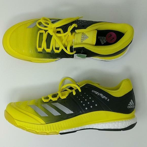 Adidas Women's Crazyflight X Volleyball shoes Yellow Black Black Black BA9267 NEW 981b69