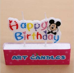 Image Is Loading MICKEY MOUSE Novelty Birthday Cake Candle Candles Topper