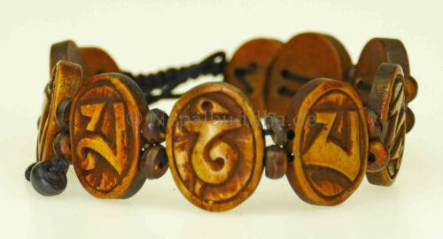 Bracelet Bouddha Bijoux à la main pièce unique Mantra Compassion s49