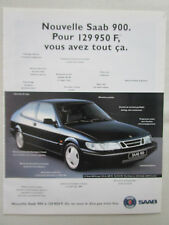PUB SAAB SCANIA VOITURE SAAB 900 WAGEN CAR ORIGINAL FRENCH AD