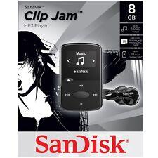 NEW SanDisk Sansa Clip Jam 8GB BLACK MP3 Player FM Radio Music USB MicroSD Slot