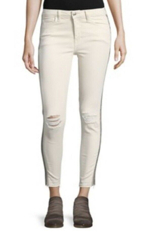New Free People Beaded and Ripped Skinny Jeans Size 27 SOLD OUT B-123