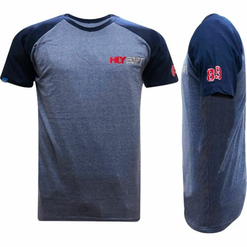 Da Uomo Hly Printed T-shirt 100/% cotone palestra Athletic Training Tee Top Estate Nuovo