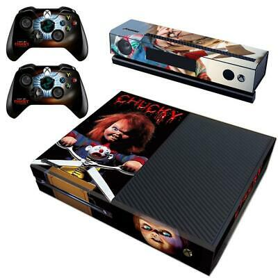 Faceplates, Decals & Stickers Video Games & Consoles Helpful Xbox One Kinect Consoles Child's Play Chucky Horrible Vinyl Skins Decal Stickers