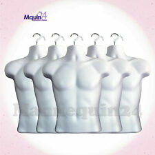 5 Pack Malev Torso Dress Mannequin Form White Hanging Body Form