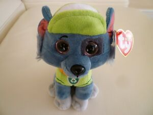 TY ROCKY DOG PAW PATROL OFFICIAL BRAND NEW BEANIE BOOS PLUSH SOFT ... d308fcc4046