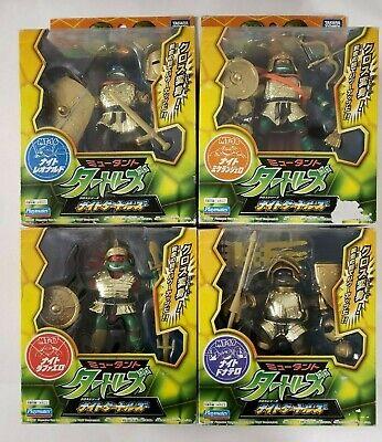 2007 Tmnt Golden Ninja Knights Raph Leo Mikey Don Lot Of 4
