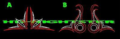 Fender door corner pinstripe pinstriping hot rat rod vinyl decal SET of two