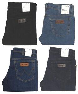 Wrangler-Jeans-Texas-Stretch-blau-schwarz-blue-black-dunkel-1-oder-2-Wahl-Ware
