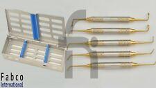 5pcs Sinus Lift Instruments Set Dental Implant Dentistry With Dental Cassette